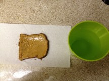 100% whole grain bread and 1 tbsp Skippy Natural honey flavored creamy peanut butter